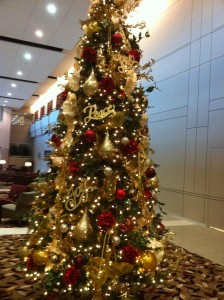 Texas Health Presbyterian Hospital's Golden Christmas Tree of Peace, Love, & Joy
