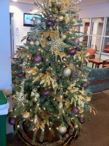 Majestic Purple & Gold Christmas Tree