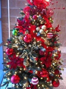 Texas Health Presbyterian Hospital Red Christmas Tree