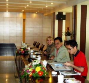 June Stoyer Teaching Composting Classes in China
