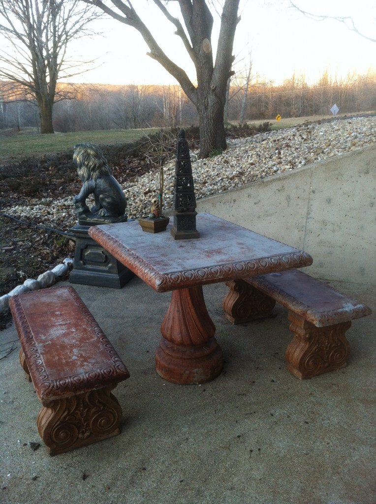 Stone Table in Illinois Sans Might Oak