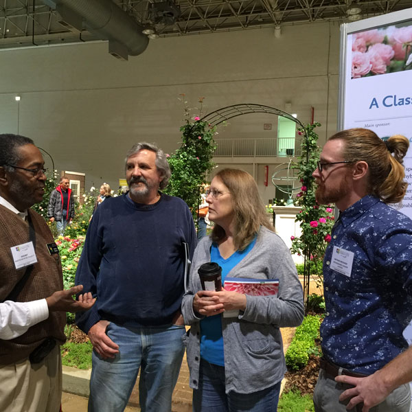 Nathan Beckner on the far right with docent and show attendees