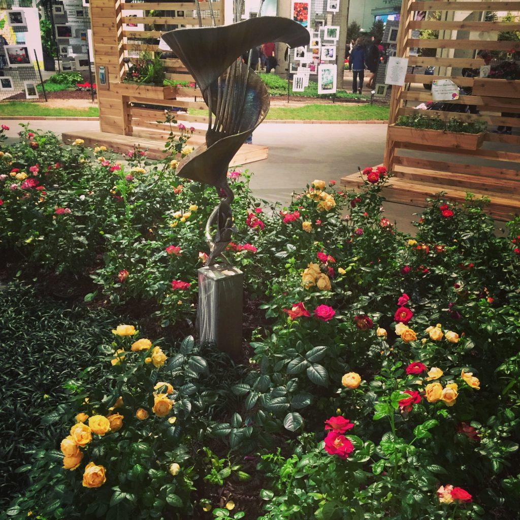 Sculptures In The Rose Garden