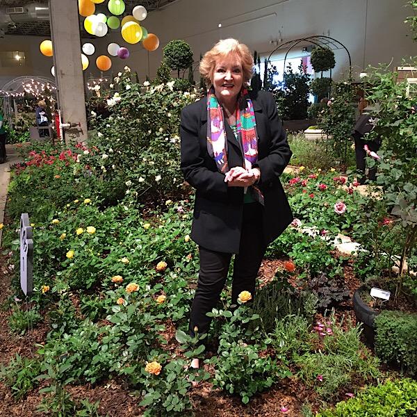 Chicago Flower & Garden Show Rose garden in Bloom